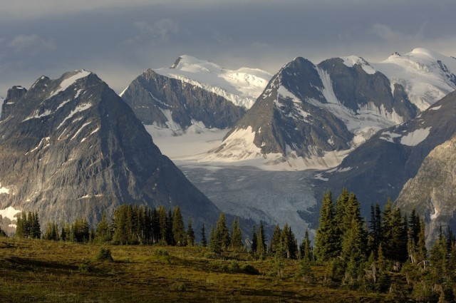 Glacier capped mountains of British Columbia